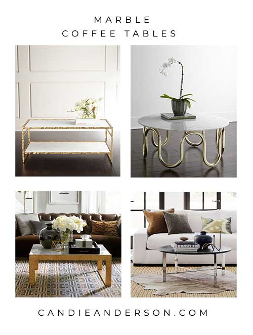 gorgeous marble coffee tables in every