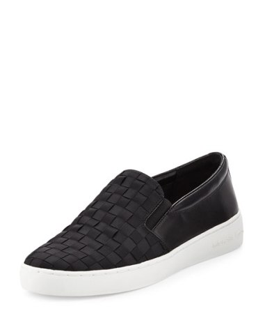 MICHAEL Michael Kors Keaton Woven Slip-On Skate Sneaker Black slip-on sneakers fall 2016