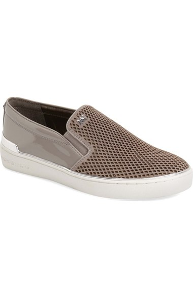 MICHAEL Michael Kors 'Phoebe' Slip-On Sneaker (Women) Pearl Grey Suede slip-on sneakers fall 2016