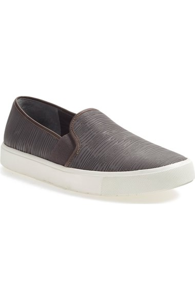 Vince 'Blair 5' Slip-On Sneaker (Women) Dark Smoke Leather  slip-on sneakers fall 2016