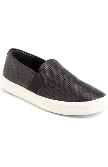 Vince 'Blair 5' Slip-On Sneaker (Women) Perforated Black Leather slip-on sneakers fall 2016