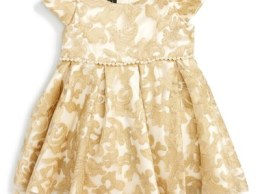 Biscotti Royal Treatment Embroidered Dress (Baby Girls) Gold christmas dresses for baby girls