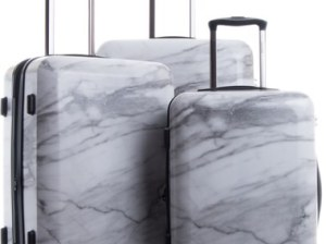 CALPAK Astyll 3-Piece Marbled Luggage Set White marble inspired suitcases