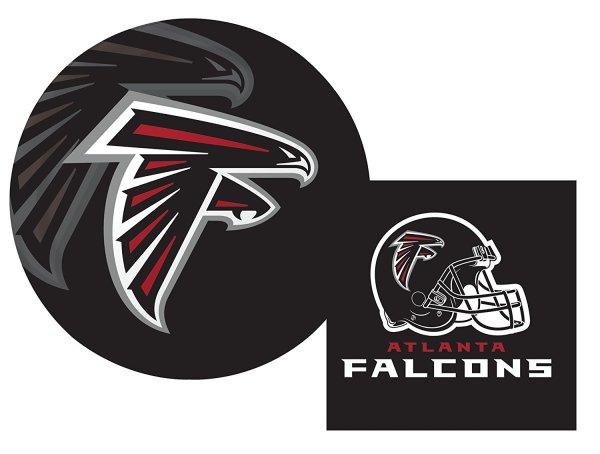 Atlanta Falcons NFL Luncheon Napkins & Plates Party Kit for 8