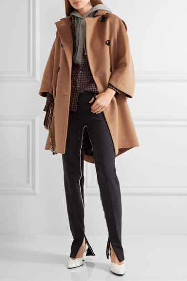 BURBERRY Wool and cashmere-blend coat camel