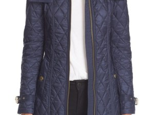 Burberry Brit Burberry Bellbridge Quilted Trench Parka Ink Blue raincoats