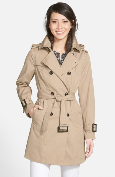 London Fog Heritage Trench Coat with Detachable Liner (Regular & Petite) (Nordstrom Exclusive) Stone double breasted coats winter 2017