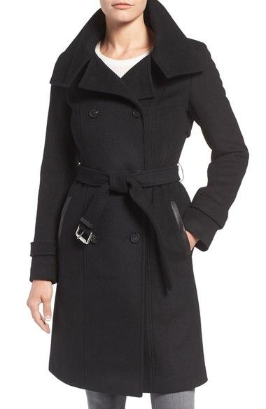 Mackage Wool Blend Military Coat Black double breasted coats