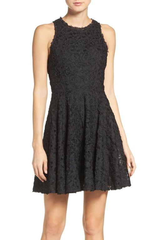 Ali & Jay Lace Fit & Flare Dress Black 2017 Nordstrom winter sale