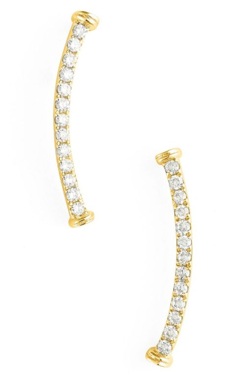 Bony Levy Diamond Curve Bar Earrings (Nordstrom Exclusive) Yellow Gold 2017 Nordstrom winter sale