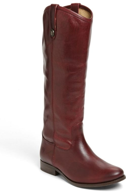 Frye 'Melissa Button' Boot (Extended Calf) Bordeaux Extended Nordstrom winter sale