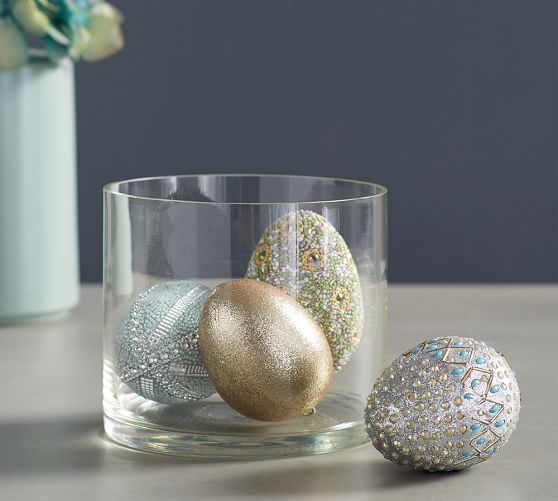Pottery Barn SPARKLE ORNAMENT EGGS pottery barn friends and family sale