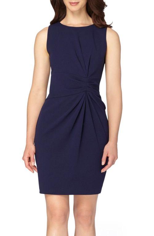 Tahari Ruched Sheath Dress (Regular & Petite) Navy Blue 2017 Nordstrom winter sale