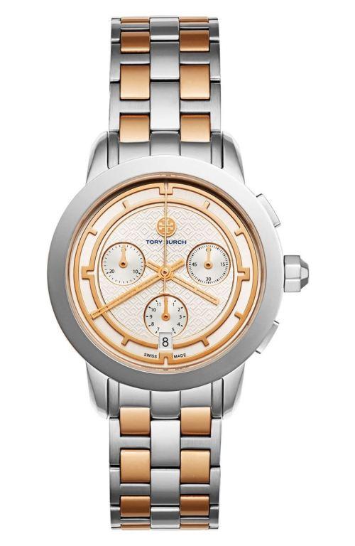 Tory Burch Classic Bracelet Watch, 37mm Silver Rose Gold Nordstrom winter sale