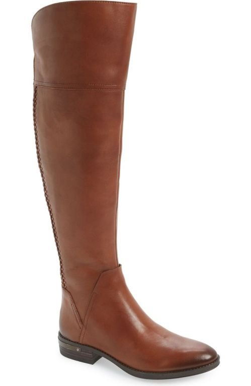 Vince Camuto 'Pedra' Over the Knee Boot (Women) Gingerbread Leather 2017 Nordstrom winter sale