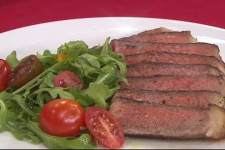 Watch Today's Carson Daly and his wife Siri Daly show Matt Lauer (and all of us at home!) how to make a Valentine's Day New York strip steak and chocolate layer cake (aka a Brooklyn blackout cake) on the Tuesday, February 14, 2017 episode of the Today show.