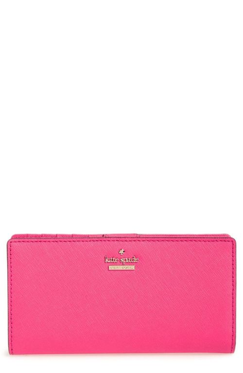 kate spade new york 'cameron street - stacy' textured leather wallet Pink Confetti 2017 Nordstrom winter sale