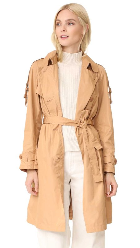 Add Down Trench Coat Beige trench coats spring 2017
