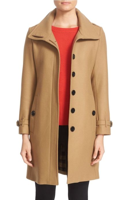 Burberry Gibbsmoore Funnel Collar Trench Coat Camel trench coats spring 2017