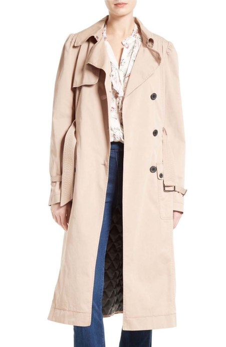 La Vie Rebecca Taylor Twill Trench Coat Tawny trench coats spring 2017