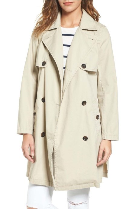 Madewell Abroad Trench Coat Dark Rope trench coats spring 2017