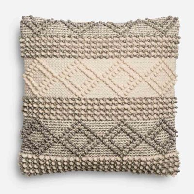 Magnolia Home Joslin Gray & Ivory Oversized Pillow Pier 1 magnolia home by joanna gaines for pier 1