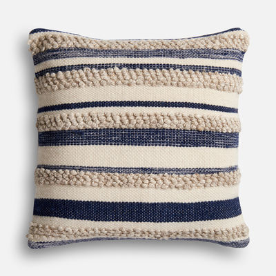 Magnolia Home Zander Navy & Ivory Oversized Pillow Pier 1 magnolia home by joanna gaines for pier 1