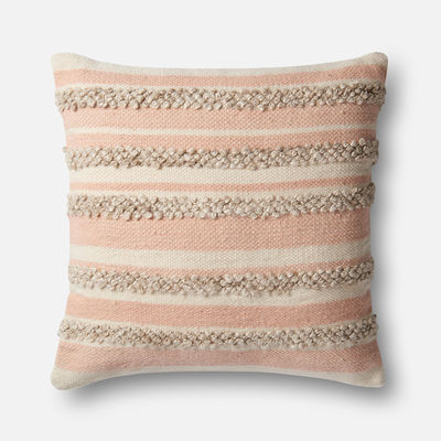 Magnolia Home Zander Pink & Ivory Oversized Pillow magnolia home by joanna gaines for Pier 1 Imports