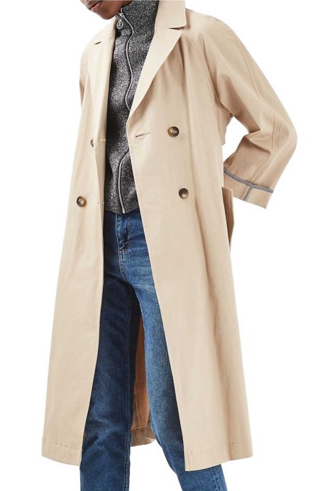 Topshop Relaxed Trench Coat Beige  trench coats spring 2017