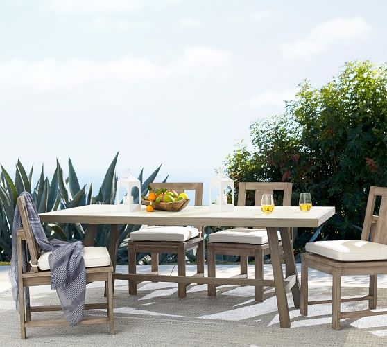 pottery barn outdoor dining tables