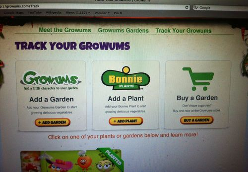 Track Your Garden Growums Candace Rose Growum