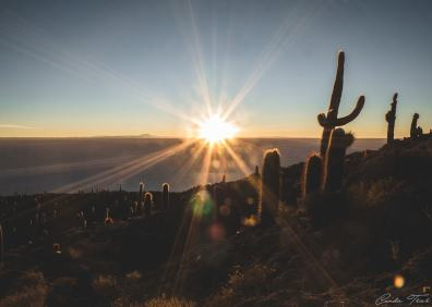 Lever de soleil - Salar d'Uyuni