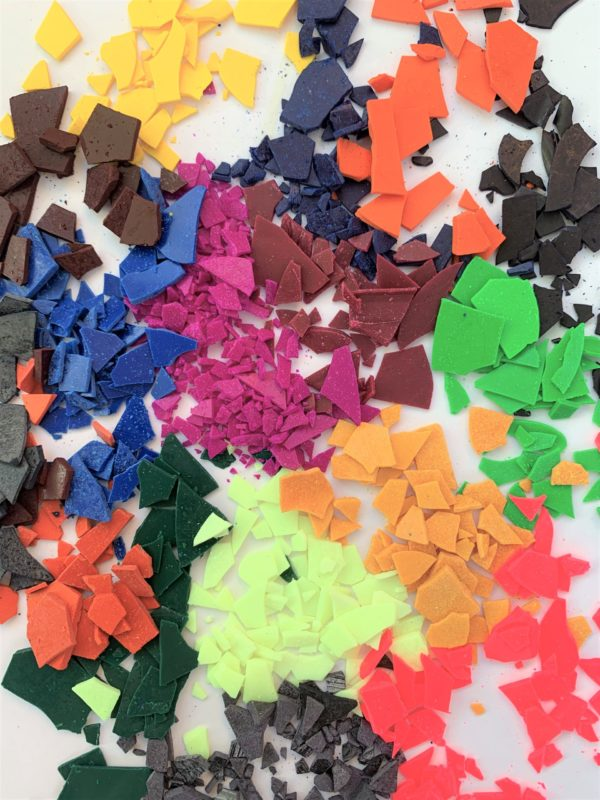Wax dye chips for candles
