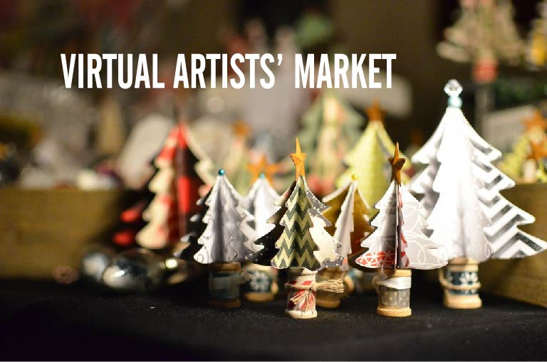 Paper Trees with Virtual Artists' Market Headline