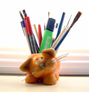 pencil holder candle