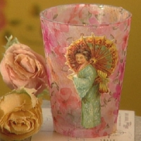 romantic votive holder