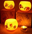honey pot luminary candle