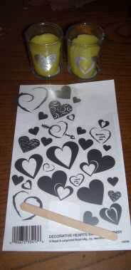 heart transfers candles