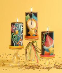 New Year Candle