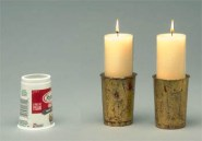 yogurt candle holder