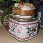 Cross stitch candle wrap