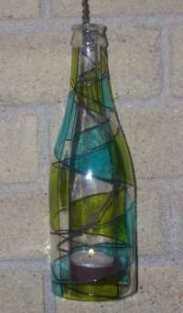 hanging bottle candle holder