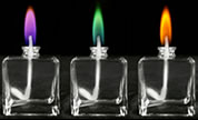 Color flame lamps