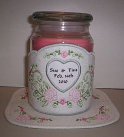 Wedding candle wrap