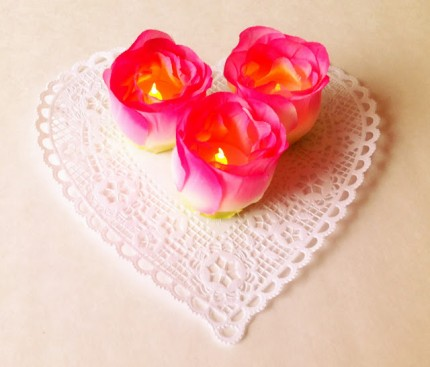 Tea Light Flowers @ Craft Gossip