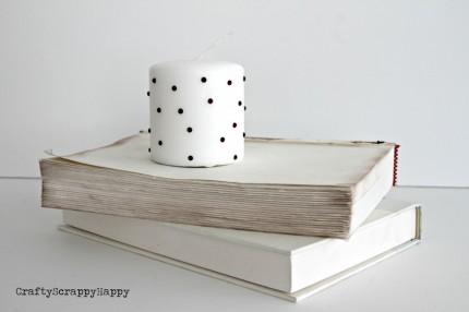 Gem-Embellished Candle @ Craft Gossip