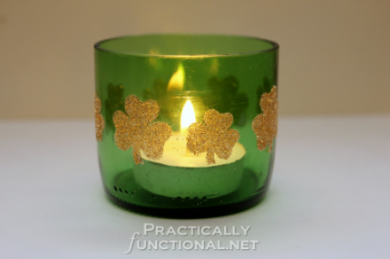 Beer Bottle St. Patrick's Day Candle Holders