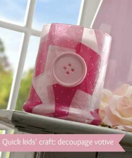 Kids Craft: Button Votives