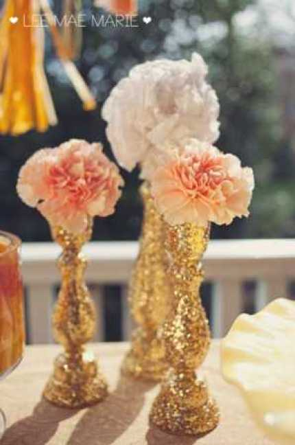 Glitter Candlesticks @ Craft Gossip