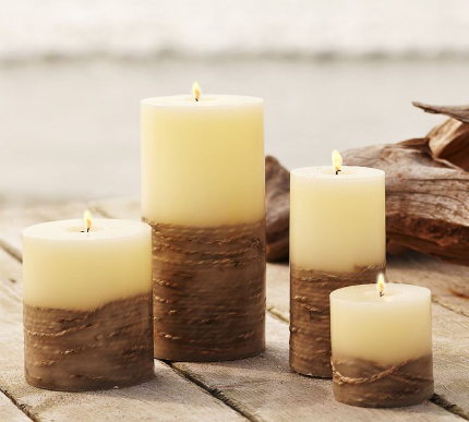 New Rope Pillar Candles at Pottery Barn